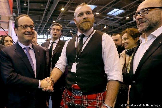 Avec Francois Hollande, Président de la République