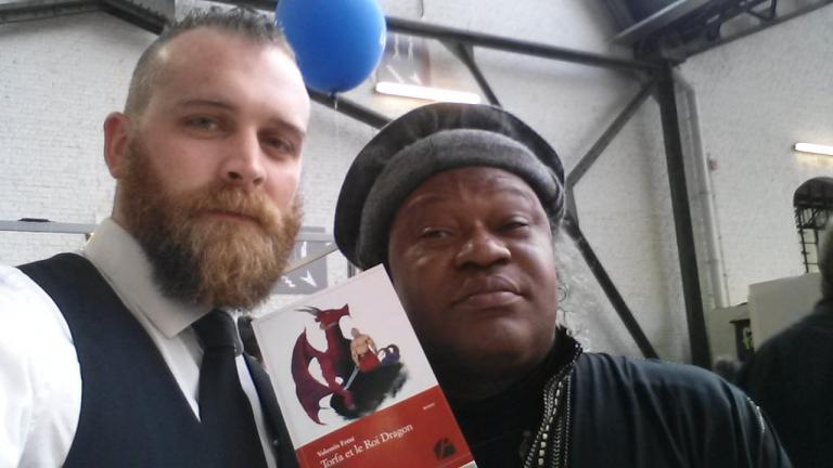 Avec Barly Baruti, prix de la Meilleure BD 2015