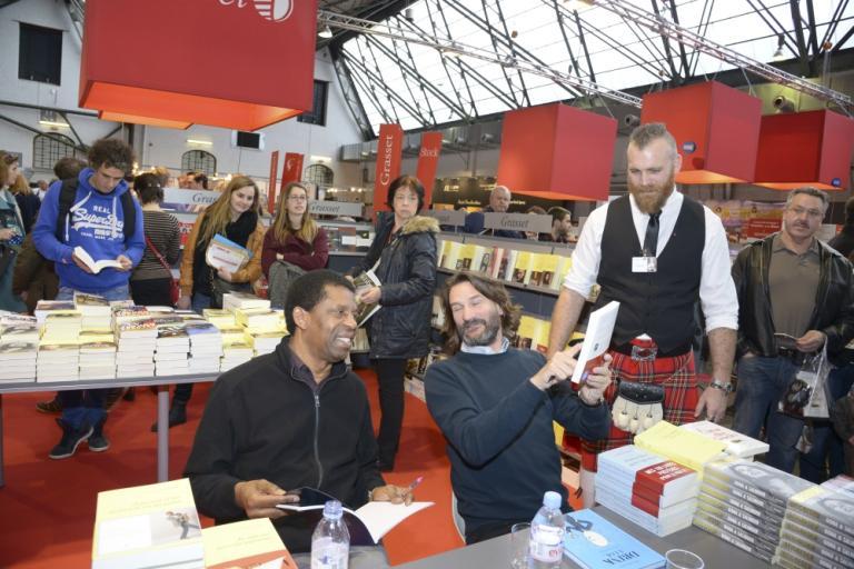 Avec Dany Laferrière et Frédéric Beigbeder