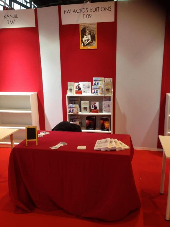 Salon du Livre Paris 2015, Le Stand Editions Palacios